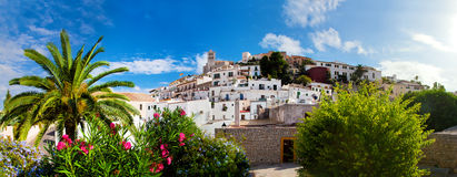 Panorama von Ibiza, Spanien lizenzfreies stockbild
