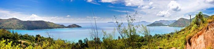Panorama von Insel Praslin stockfotos