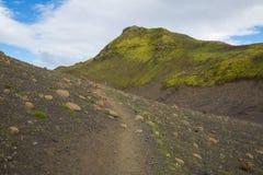 Panorama von isländischen Bergen Stockbild