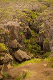 Panorama von isländischen Bergen Stockfotografie