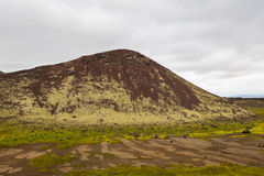 Panorama von isländischen Bergen Lizenzfreie Stockbilder