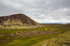 Panorama von isländischen Bergen Stockbilder