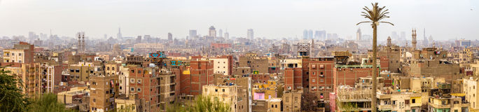 Panorama von islamischem Kairo Stockfotografie