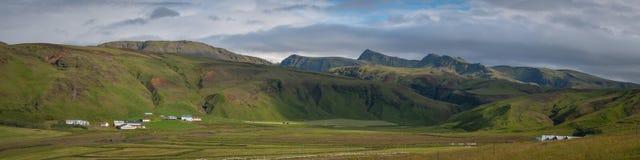Panorama von Island-` s Landschaft Stockfotografie