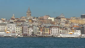 Panorama von Istanbul-Seeseite stock footage