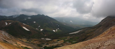 Panorama von Kamchatka-Landschaft (Russland) Lizenzfreies Stockfoto