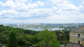Panorama von Kiew-Stadt im Frühjahr Lizenzfreies Stockfoto