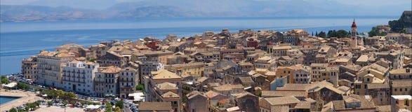 Panorama von Korfu Stockfotografie