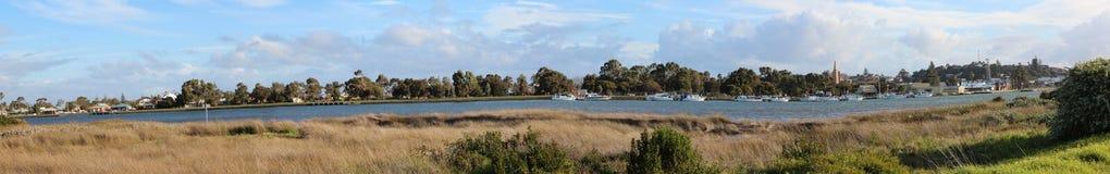 Panorama von Leschenault Mündung lizenzfreie stockbilder