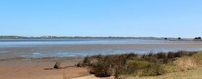 Panorama von Leschenault Mündung Bunbury WestAust stockfoto