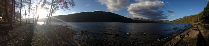 Panorama von Loch erwerben Stockfotografie