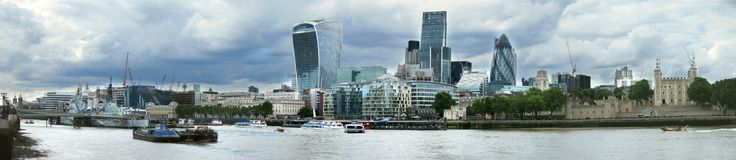 Panorama von London stockbild