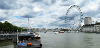 Panorama von London stockbilder