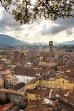 Panorama von Lucca vom Torre Guinigi Lizenzfreies Stockbild