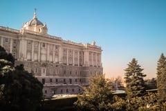 Panorama von Madrid lizenzfreies stockbild