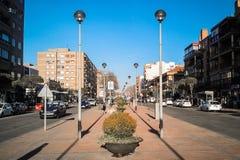 Panorama von Madrid stockbilder