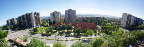 Panorama von Miskolc, Avas Lizenzfreie Stockfotografie
