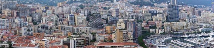 Panorama von Monaco Lizenzfreie Stockbilder