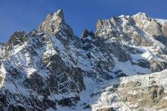 Panorama von Mont Blanc Chain in ` Aosta Valle D Lizenzfreies Stockfoto