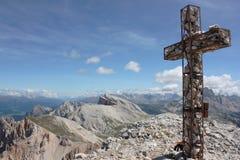 Panorama von Monte Sella du Sennes Stockbilder