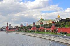 Panorama von Moskau Stockfotografie