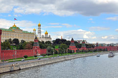 Panorama von Moskau Kremlin Lizenzfreies Stockbild