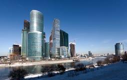 Panorama von Moskau-Stadt, Russland Stockbilder