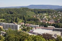 Panorama von Nachod in der Tschechischen Republik lizenzfreies stockfoto