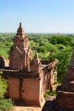 Panorama von Nagayon-Tempel Bagan myanmar Lizenzfreies Stockbild