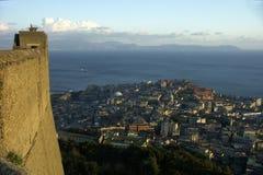 Panorama von Neapel Stockbild