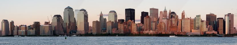 Panorama von New York City Stockbild