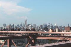 Panorama von New York City Stockfotos