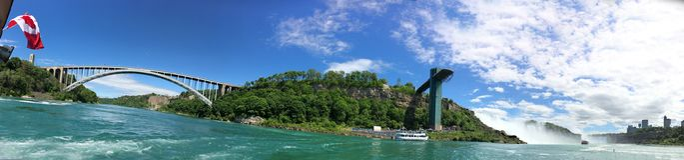 Panorama von Niagara Falls lizenzfreies stockfoto