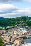 Panorama von Oban, ein beliebtes Erholungsort innerhalb des Verwaltungsgebiets Argyll und der hochgebogenen Hinterkante von Schot Lizenzfreies Stockfoto
