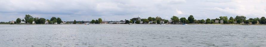 Panorama von Oxford Maryland vom Chesapeake Lizenzfreie Stockfotografie
