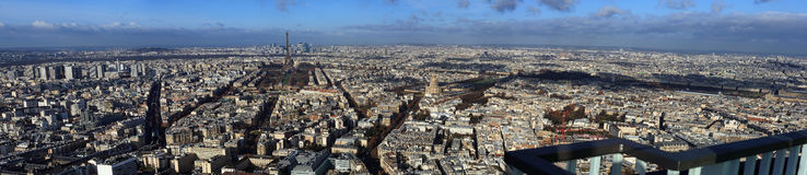 Panorama von Paris Stockfotos