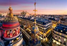 Panorama von Paris - Oper Garnier im Hintergrund Lizenzfreies Stockbild