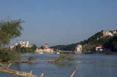 Panorama von Passau Lizenzfreies Stockbild