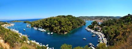 Panorama von Paxoi Insel Lizenzfreies Stockfoto