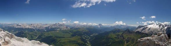 Panorama von Piz Boè lizenzfreie stockfotografie