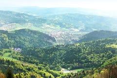 Panorama von polnischen Bergen Stockfoto