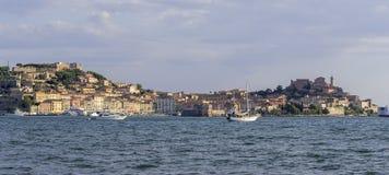 Panorama von Portoferraio, Insel von Elba Lizenzfreie Stockbilder