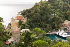 Panorama von Portofino Lizenzfreies Stockbild