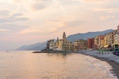 Panorama von Portofino Stockfoto