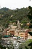 Panorama von Portofino Stockfotografie