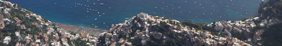 Panorama von Positano Stockfotos