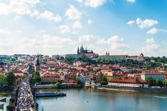 Panorama von Prag Lizenzfreies Stockbild