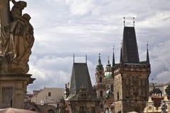Panorama von Prag Stockbild