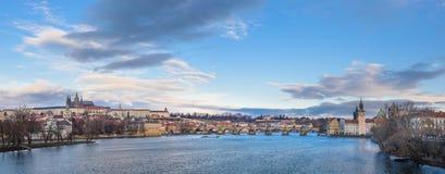 Panorama von Prag Stockbilder