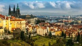 Panorama von Prag Lizenzfreies Stockfoto